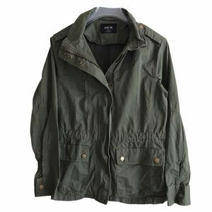 Active USA Olive Hobo Chic Utility Jacket M